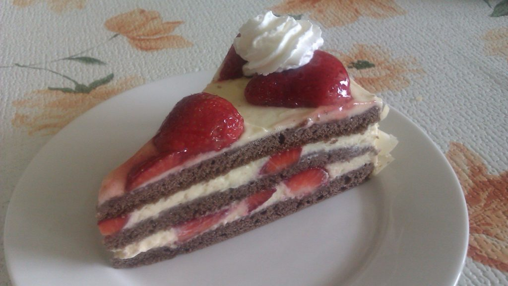 Schoko Vanille Erdbeer Torte Kuchentigers Rezepte Blog