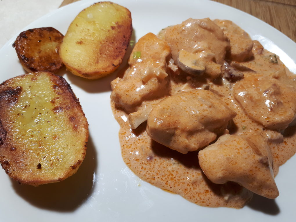Hühnerbrust mit Pilz-Rahmsauce