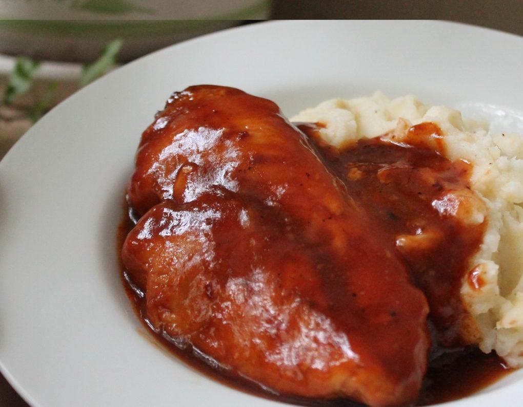 Slow Cooker BBQ Hühnerbrüste