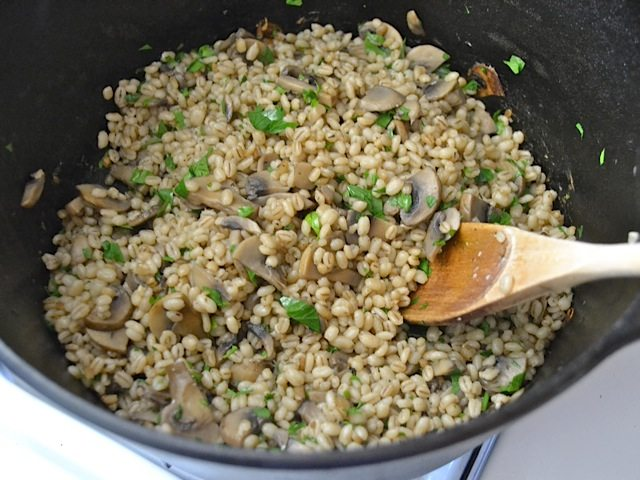Gersten Risotto aus dem Dutch Oven
