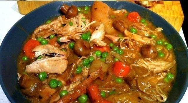 Slow Cooker Chicken mit Guinness und Lauch