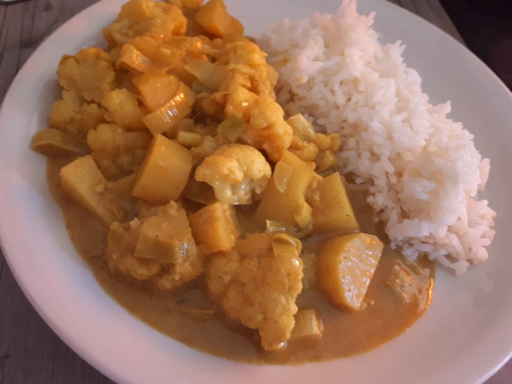 Gemüse-Curry mit Kokos