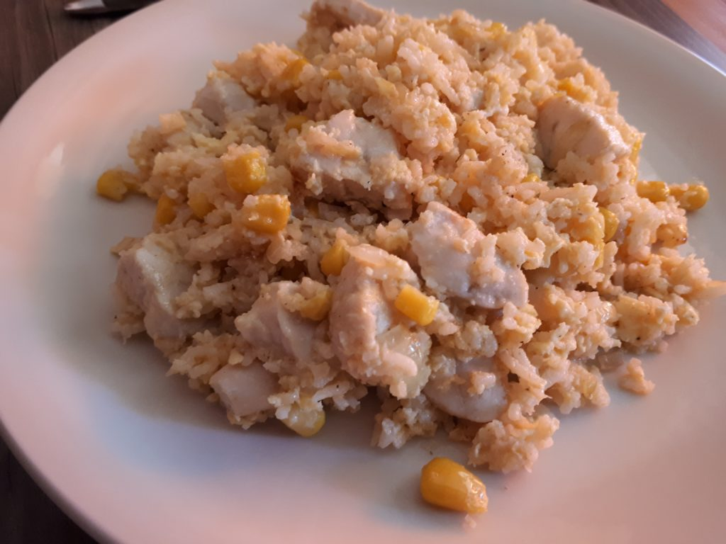 Gebratener Reis mit Chicken (Resteverwertung)