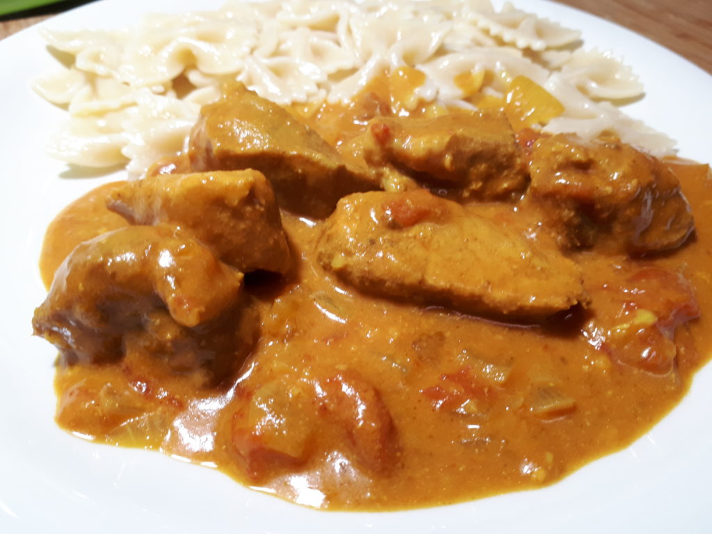 Slow Cooker-Kokosnuss-Schweinefleisch-Curry