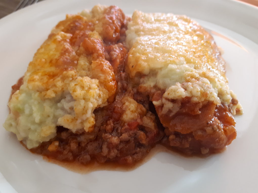 Shepards Pie mit Blumenkohl-Sellerie-Püree