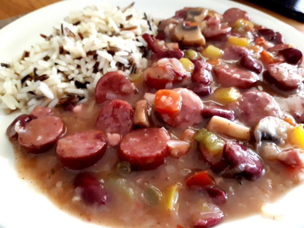 Rezept für rote Bohnen und Reis nach New Orleans-Art