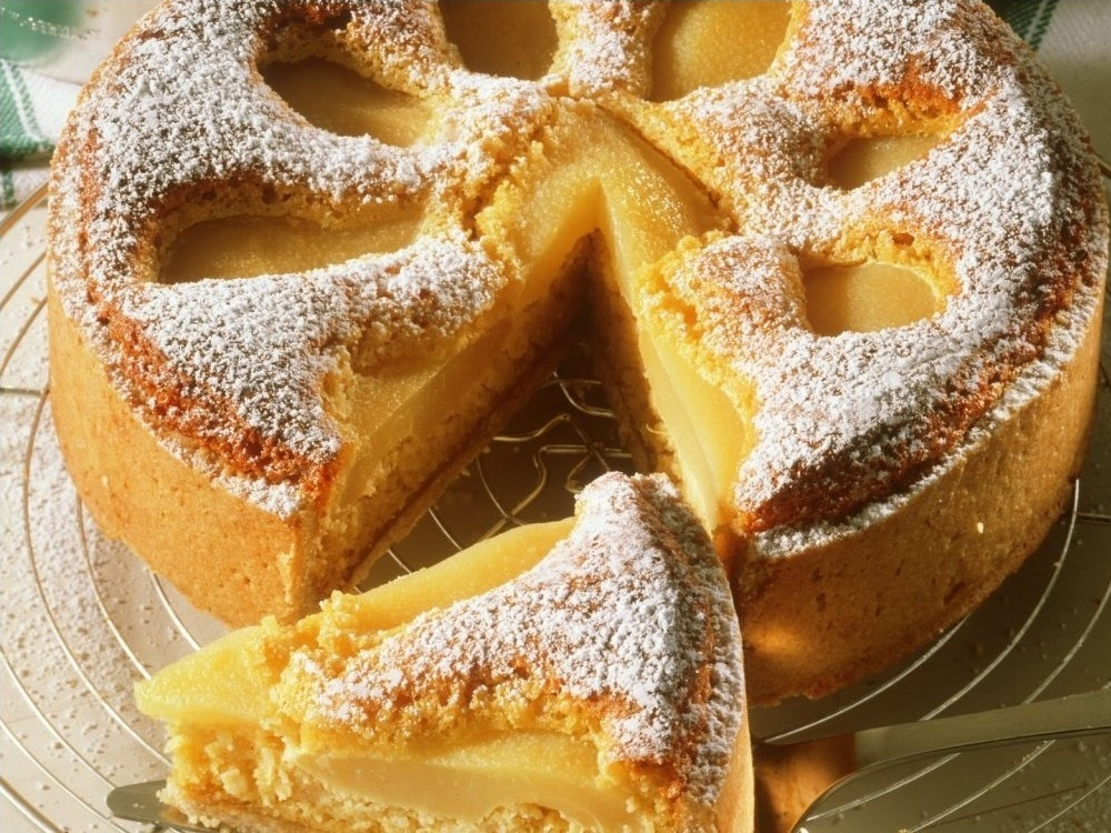Birne-Nuss-Kuchen