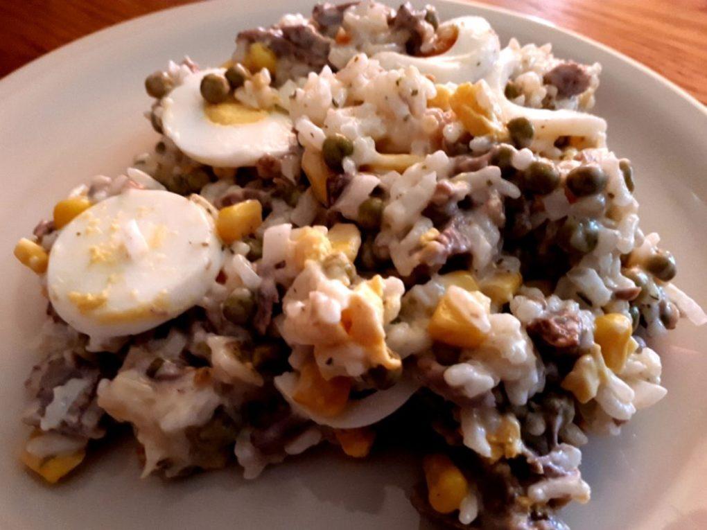 Reissalat mit Gemüse und Siedfleisch