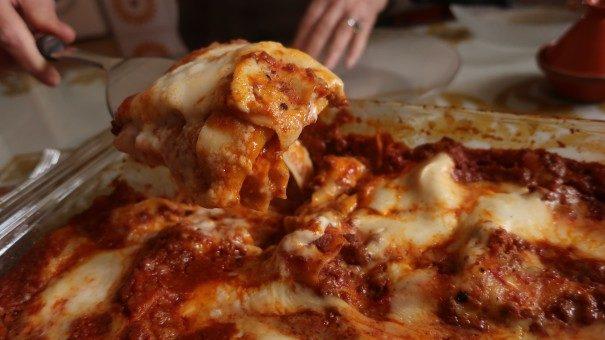 Lasagne al forno mit Hackfleisch
