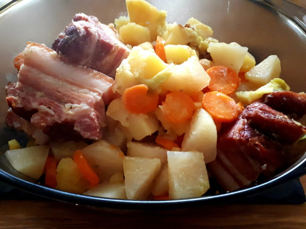 Kartoffel Gemüse und Speck aus dem Instant Pot®