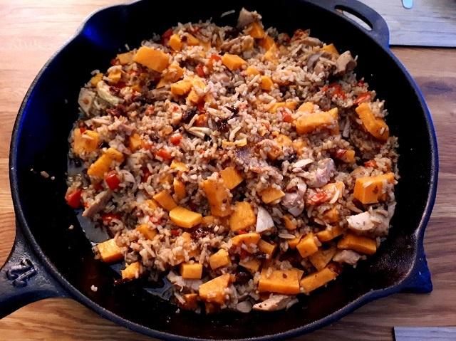 Cajun Chicken Reispfanne (Resteverwertung, No Waste)