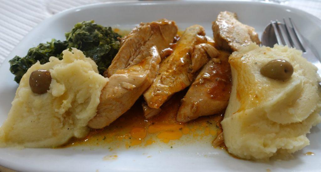 Oregano Huhn und cremiger Kartoffelstock